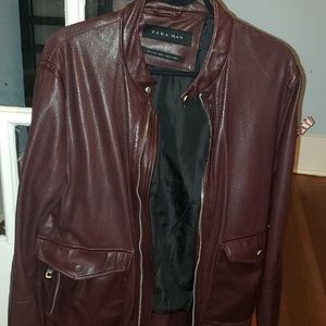 Zara Men's Stylish Leather Jacket - $30 Vancouver